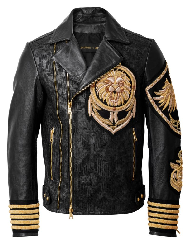 Balmain-x-HM-Lion-Leather-Jacket